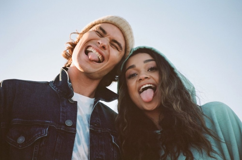 American Eagle enlists Chase Stokes and Madison Bailey as the stars of its spring 2021 denim campaign.