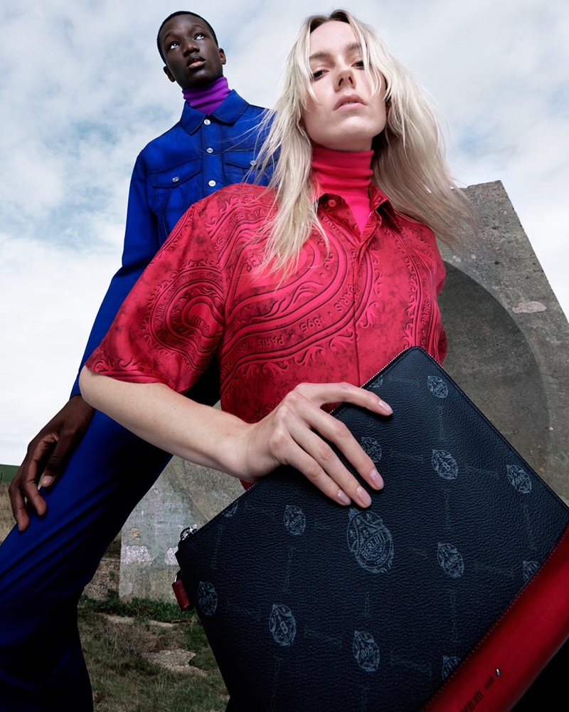 Making a case for rich colors, Mahamadou Diaoune and Kiki Willems front Berluti's spring-summer 2021 campaign.