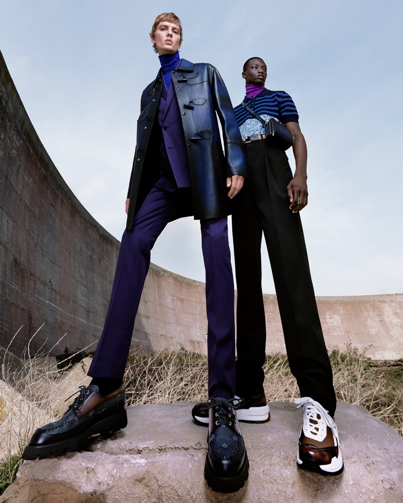 Berluti enlists Leon Dame and Mahamadou Diaoune as the stars of its spring-summer 2021 campaign.