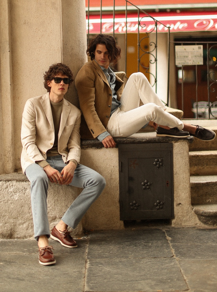Boglioli enlists models Davide Moncecchi and Luigi Cazzaniga to star in its spring-summer 2021 campaign.