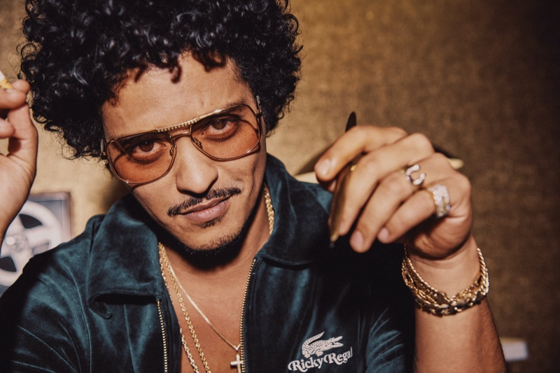 Singer Bruno Mars fronts the new campaign for his Lacoste Ricky Regal collection.