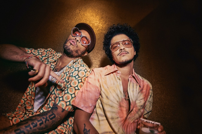 Anderson .Paak joins Bruno Mars for his Lacoste Ricky Regal collection campaign.