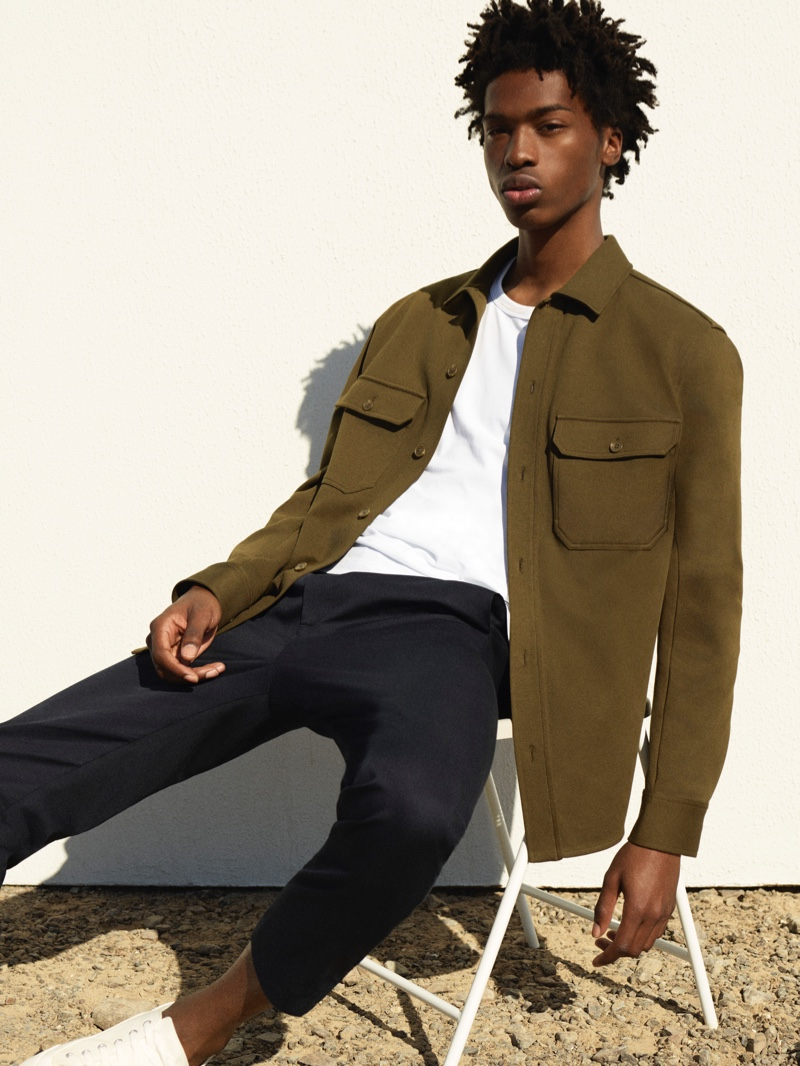 Tamel Lee appears in COS's spring-summer 2021 men's campaign.