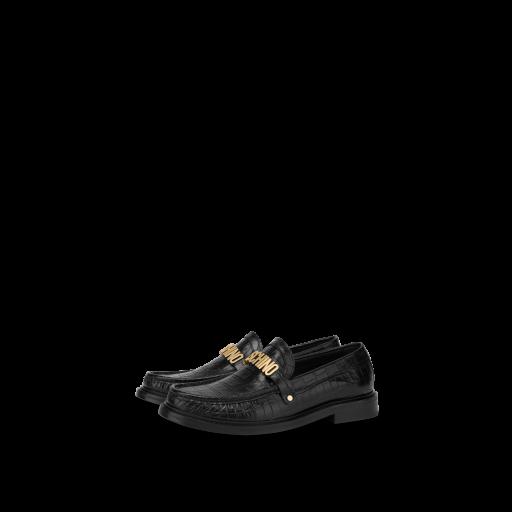 Croco Calfskin Loafers