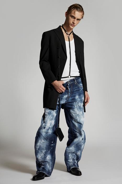 DSQUARED2 Men 5 pockets Blue Size 34 100% Cotton