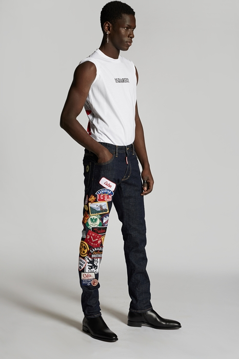 DSQUARED2 Men 5 pockets Dark blue Size 26 99% Cotton 1% Elastane