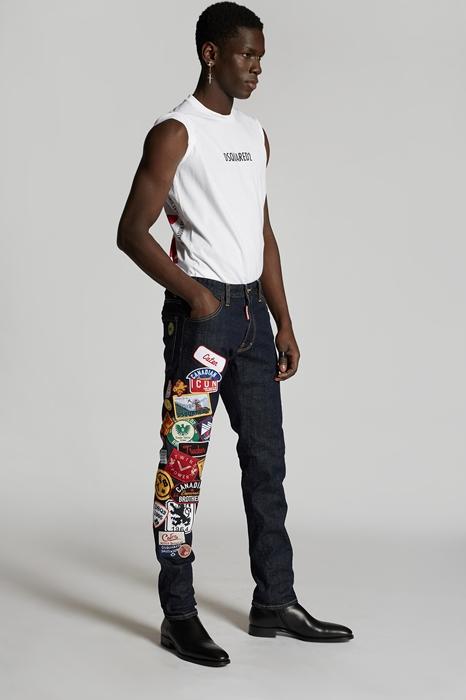 DSQUARED2 Men 5 pockets Dark blue Size 40 99% Cotton 1% Elastane