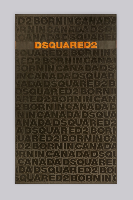DSQUARED2 Men Beach towel Military green Size OneSize 100% Cotton