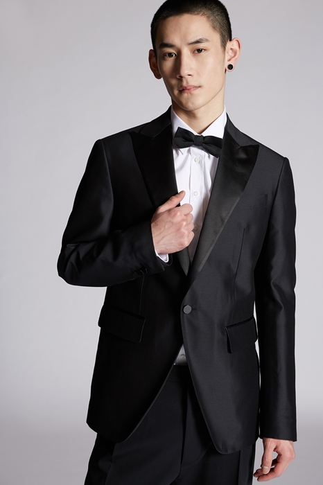 DSQUARED2 Men Blazer Black Size 38 54% Wool 46% Silk