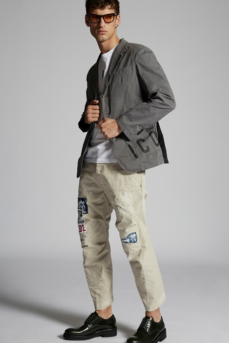 DSQUARED2 Men Blazer Grey Size 42 97% Cotton 3% Elastane