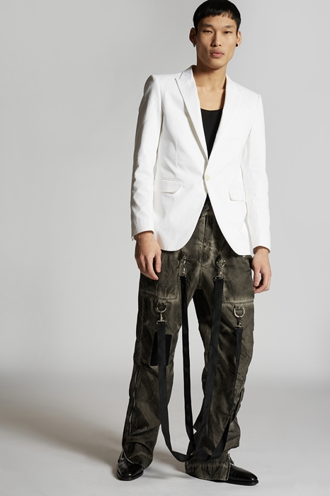DSQUARED2 Men Blazer White Size 42 100% Cotton