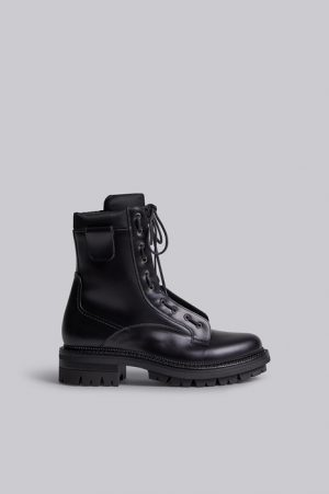 DSQUARED2 Men Boot Black Size 13 70% Calfskin 30% Polyamide