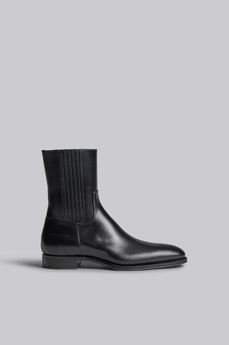 DSQUARED2 Men Boot Black Size 7 100% Calfskin