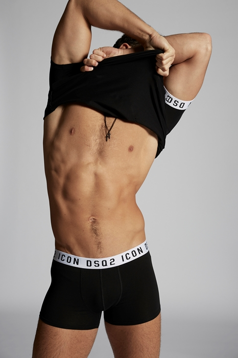 DSQUARED2 Men Boxer Black Size XS 89% Cotton 11% Elastane