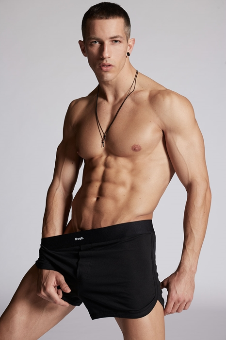 DSQUARED2 Men Boxer Black Size XXL 95% Cotton 5% Elastane