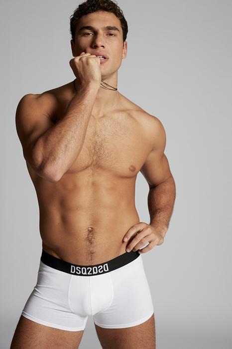 DSQUARED2 Men Boxer White Size S 95% Cotton 5% Elastane