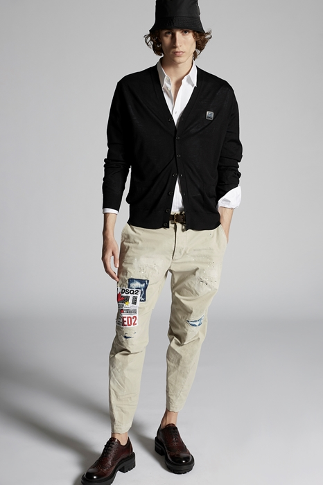 DSQUARED2 Men Cardigan Black Size XXL 100% Wool