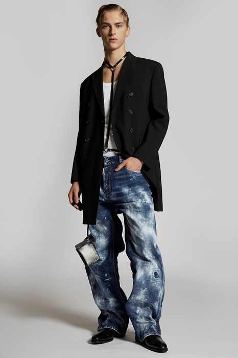 DSQUARED2 Men Coat Black Size 42 95% Virgin Wool 5% Elastane