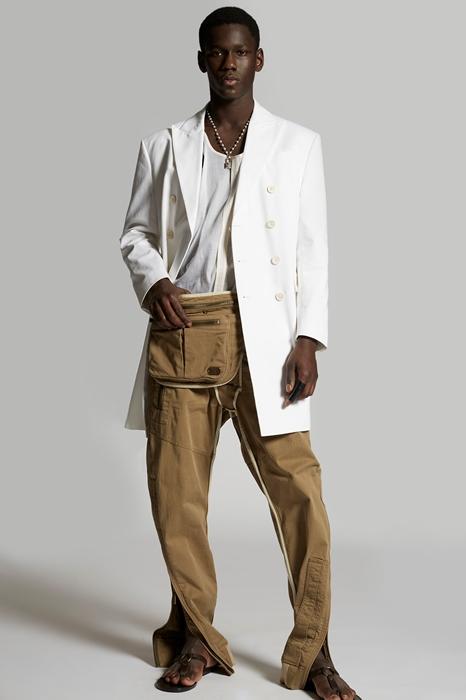 DSQUARED2 Men Coat White Size 36 100% Cotton