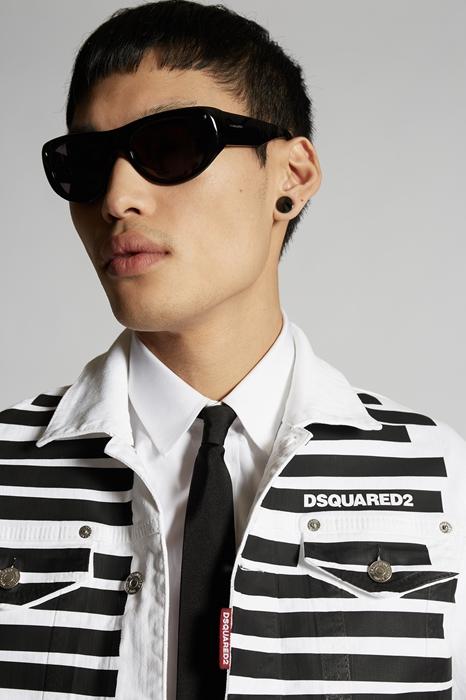 DSQUARED2 Men Denim outerwear White Size 36 98% Cotton 2% Elastane