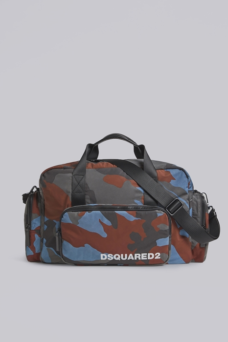 DSQUARED2 Men Duffle Slate blue Size OneSize 95% Polyester 5% Bovine leather
