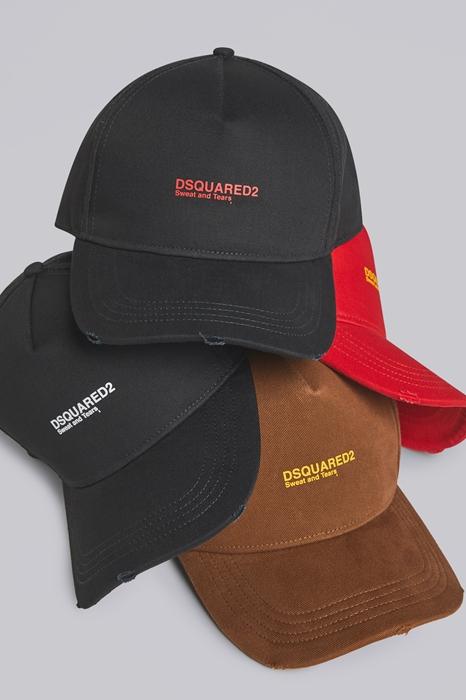 DSQUARED2 Men Hat Black Size OneSize 100% Cotton