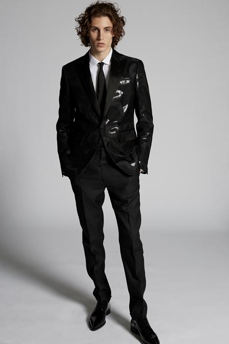 DSQUARED2 Men JACKET/BLAZER Black Size 42 55% Wool 22% Polyester 19% Silk 4% Metallic Fiber