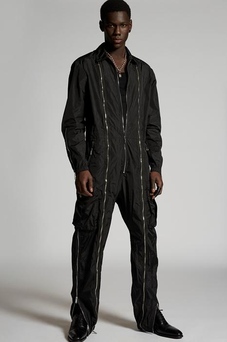 DSQUARED2 Men Jumpsuit Black Size S 100% Polyamide