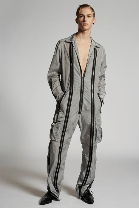 DSQUARED2 Men Jumpsuit Grey Size S 100% Polyamide