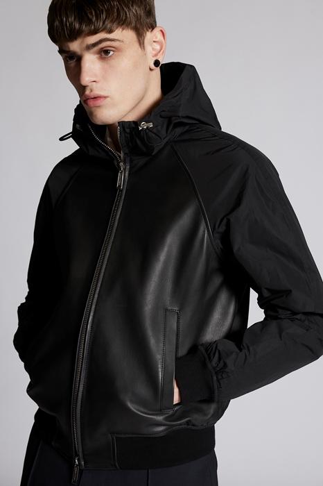 DSQUARED2 Men Kaban Black Size 44 100% Lambskin Polyester