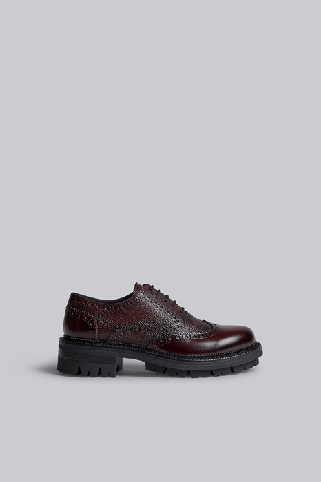 DSQUARED2 Men Lace-Up Maroon Size 6 100% Calfskin