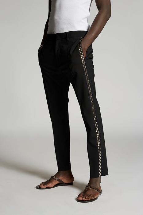 DSQUARED2 Men Pants Black Size 28 95% Virgin Wool 5% Elastane