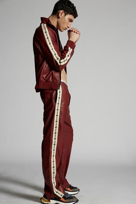 DSQUARED2 Men Pants Brick red Size 32 100% Lambskin