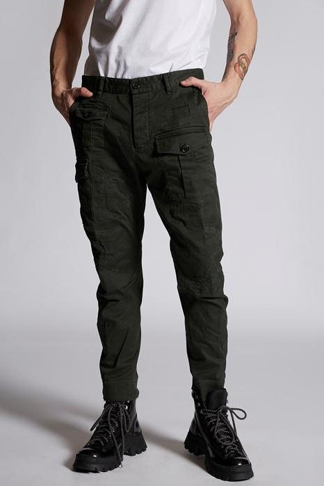 DSQUARED2 Men Pants Dark green Size 28 97% Cotton 3% Elastane