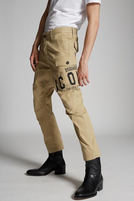 DSQUARED2 Men Pants Sand Size 32 97% Cotton 3% Elastane