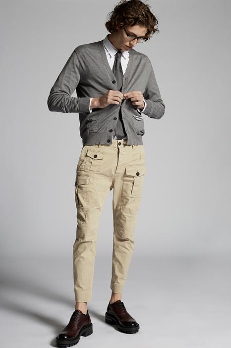 DSQUARED2 Men Pants Sand Size 36 97% Cotton 3% Elastane