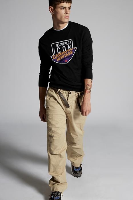 DSQUARED2 Men Pullover Black Size XXL 94% Wool 4% Polypropylene 2% Viscose