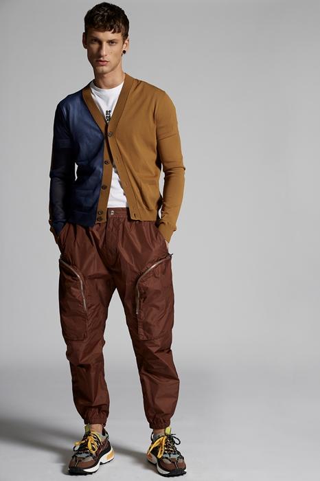 DSQUARED2 Men Pullover Light brown Size L 50% Viscose 35% Polyester 15% Polyamide