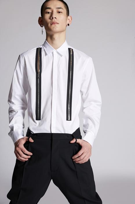DSQUARED2 Men Shirt White Size 34 100% Cotton