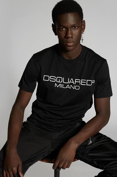 DSQUARED2 Men Short sleeve t-shirt Black Size XL Cotton