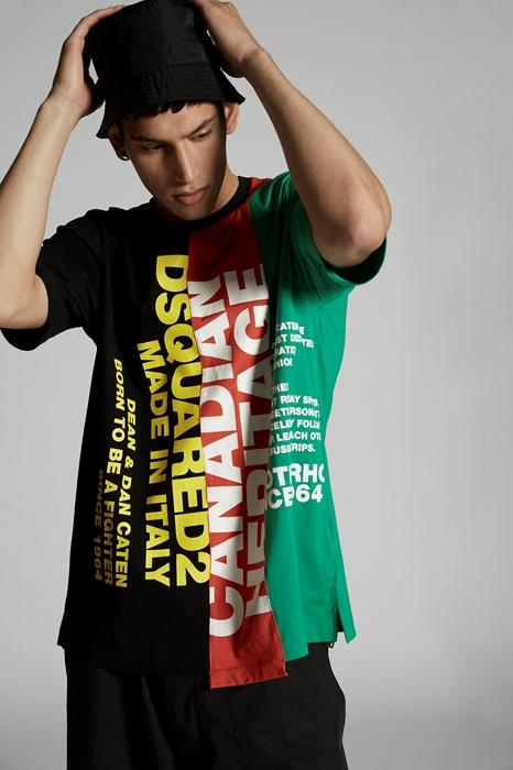 DSQUARED2 Men Short sleeve t-shirt Black Size XXL 100% Cotton