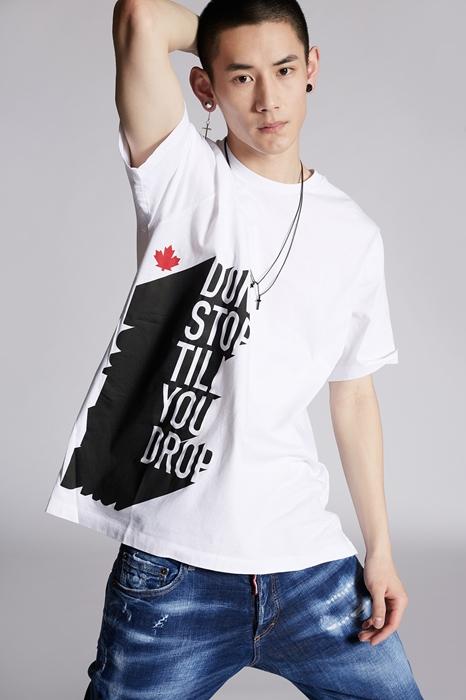 DSQUARED2 Men Short sleeve t-shirt White Size XXL 100% Cotton