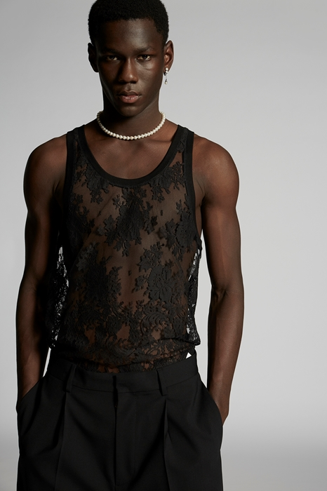 DSQUARED2 Men Sleeveless t-shirt Black Size M 70% Cotton 30% Polyamide