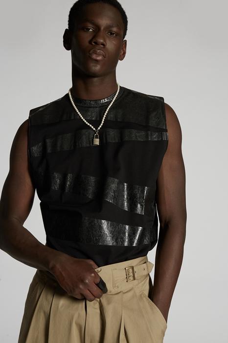 DSQUARED2 Men Sleeveless t-shirt Black Size M 96% Cotton 4% Polyamide