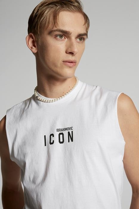 DSQUARED2 Men Sleeveless t-shirt White Size M 100% Cotton
