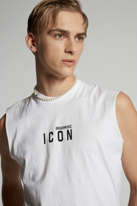 DSQUARED2 Men Sleeveless t-shirt White Size XL 100% Cotton