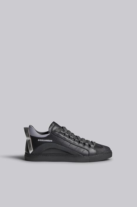 DSQUARED2 Men Sneaker Black Size 13 85% Calfskin 10% Polyurethane 4% Polyester 1% Cotton