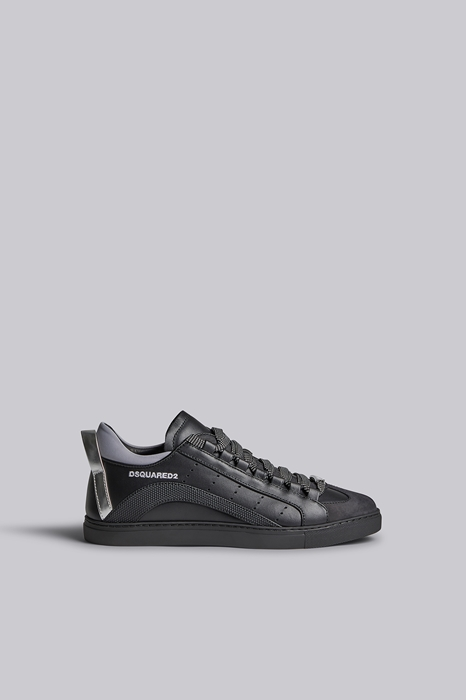 DSQUARED2 Men Sneaker Black Size 6 85% Calfskin 10% Polyurethane 4% Polyester 1% Cotton