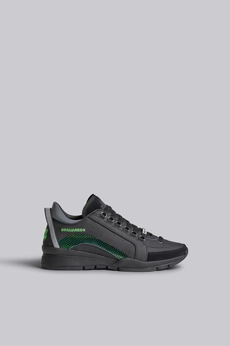 DSQUARED2 Men Sneaker Black Size 6 90% Calfskin 10% PVC - Polyvinyl chloride