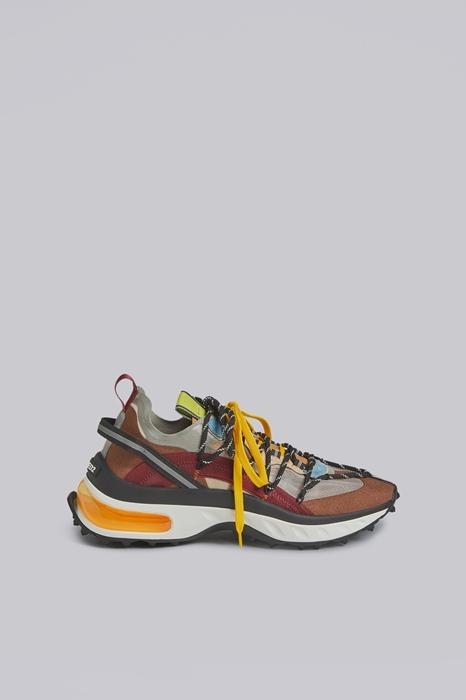 DSQUARED2 Men Sneaker Multicoloured Size 10 60% Polyester 20% Polyamide 8% Calfskin 7% Thermoplastic polyurethane 5% Polypropylene